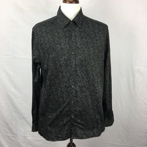 Ted Baker Black Twesta Floral Print Slim Fit Shirt